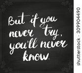 conceptual handwritten phrase... | Shutterstock .eps vector #309904490