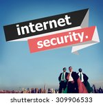 internet security protection... | Shutterstock . vector #309906533