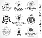 typographical bakery  coffee ... | Shutterstock .eps vector #309907160