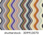 colorful wavy stripes pattern.... | Shutterstock . vector #309913070