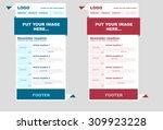 responsive newsletter template... | Shutterstock .eps vector #309923228