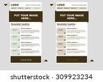 responsive newsletter template... | Shutterstock .eps vector #309923234