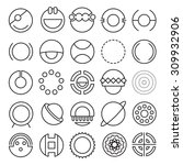 vector set of round...