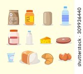 food and drink icon set | Shutterstock . vector #309936440