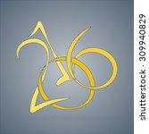 vector calligraphic inscription ... | Shutterstock .eps vector #309940829