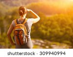 young backpacker traveling... | Shutterstock . vector #309940994