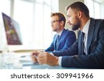 young businessman looking at... | Shutterstock . vector #309941966