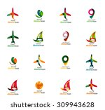 set of abstract travel logo... | Shutterstock .eps vector #309943628