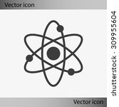 atom sign icon | Shutterstock .eps vector #309955604
