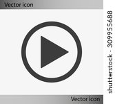 play button web icon | Shutterstock .eps vector #309955688