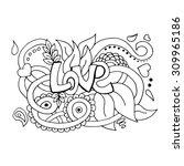 abstract vector decorative... | Shutterstock .eps vector #309965186