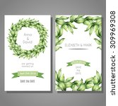 vector cute cards templates set ... | Shutterstock .eps vector #309969308