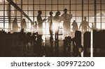 silhouettes business people... | Shutterstock . vector #309972200