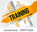 training word cloud  business... | Shutterstock .eps vector #309972404
