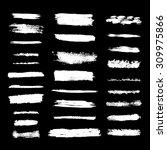 white grunge brush strokes on... | Shutterstock .eps vector #309975866