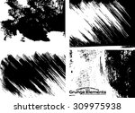 grunge frame texture set  ... | Shutterstock .eps vector #309975938