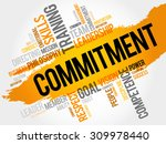 commitment word cloud  business ... | Shutterstock .eps vector #309978440
