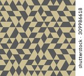 geometric  texture with gray... | Shutterstock . vector #309986618