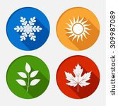 set of modern season colored...   Shutterstock . vector #309987089
