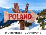 Poland Wooden Sign With Winter...