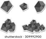 set of flat coal icon   Shutterstock .eps vector #309992900