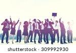 business people new york... | Shutterstock . vector #309992930