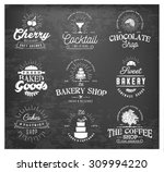 typographical bakery  chocolate ... | Shutterstock .eps vector #309994220