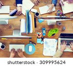 group of business people... | Shutterstock . vector #309995624