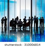 silhouette group of business... | Shutterstock . vector #310006814