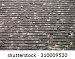 damaged roof of an old rural... | Shutterstock . vector #310009520