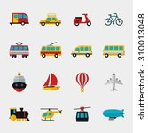 transport flat icons set.... | Shutterstock . vector #310013048