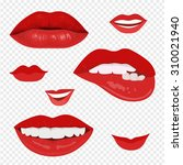 female lips with a smile. the... | Shutterstock .eps vector #310021940
