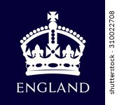 isolated british crown on a... | Shutterstock .eps vector #310022708