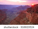 sunset rays in the grand canyon ... | Shutterstock . vector #310023524