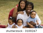 beautiful multicultural family | Shutterstock . vector #3100267