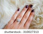 Diamond Ring On A Finger