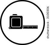tape measure ruler symbol | Shutterstock .eps vector #3100306