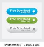 vector web interface buttons.... | Shutterstock .eps vector #310031108