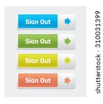 vector web interface buttons....   Shutterstock .eps vector #310031399