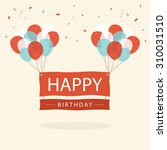 happy birthday text box  color... | Shutterstock .eps vector #310031510