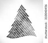 christmas card. christmas tree. ... | Shutterstock . vector #310040456