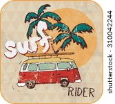 van surf illustration  t shirt... | Shutterstock . vector #310042244