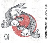 koi fish  illustration. print... | Shutterstock . vector #310042418