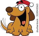 cartoon illustration of a dog... | Shutterstock .eps vector #310043363