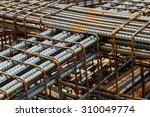 background of iron and bundled... | Shutterstock . vector #310049774
