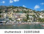 positano  italy june 23  2015 ... | Shutterstock . vector #310051868