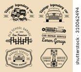 garage logos set. car repair... | Shutterstock .eps vector #310062494