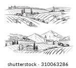 Vector Hand Drawn Village...