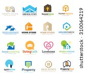 Stock vector home and real estate logo set 310064219