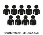 people icon population  teamwork   Shutterstock .eps vector #310066568
